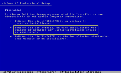 windows bootsektor