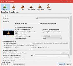 VLC Media Player - Einfache Einstellungen - Fensteranpassung