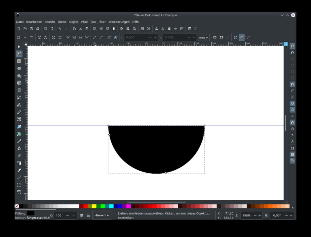 Inkscape Halbkreis zeichnen