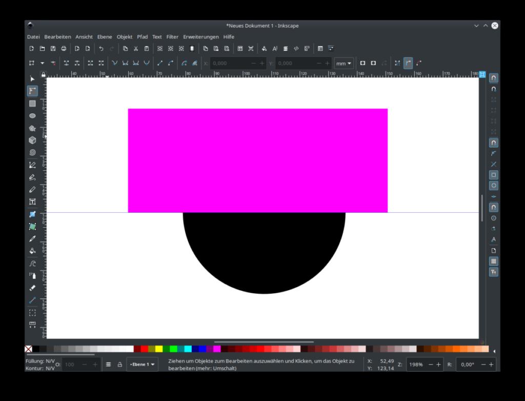 Inkscape Rechteck zeichnen