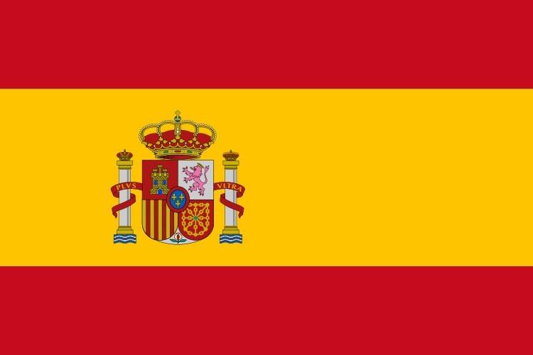 Spanische Sonderzeichen Flagge Spaniens